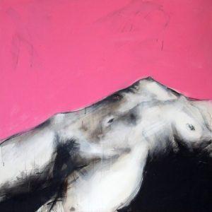 Danae, 2008, mixed technique on canvas, 100 x 100 cm