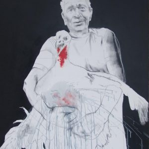 Dad, 2016, mixed technique on canvas, 100 x 200 cm